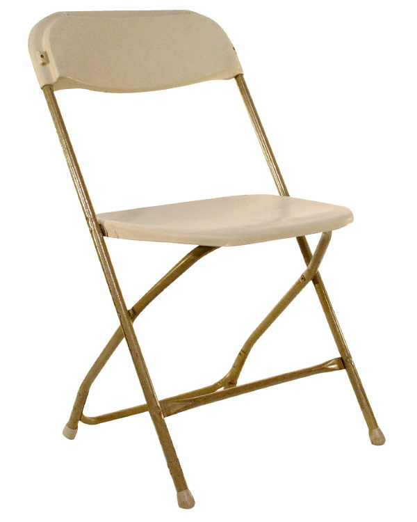 Where to find CHAIR, FOLDING PLASTIC TAUPE in Fairfield