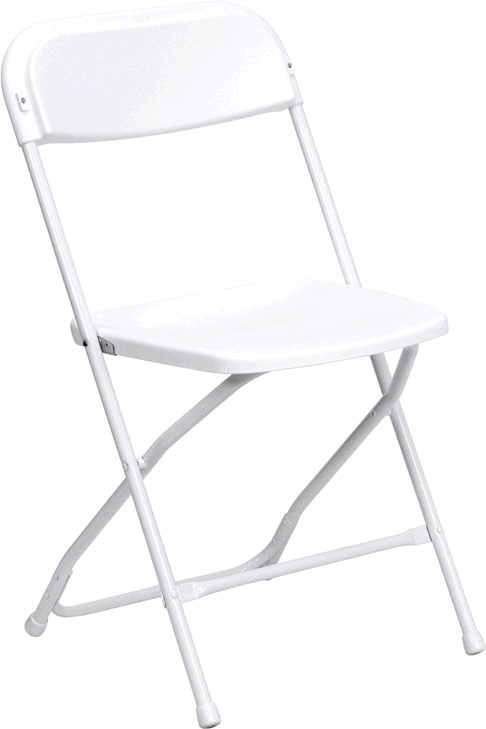 Where to find CHAIR, FOLDING WEDDING WHITE in Fairfield
